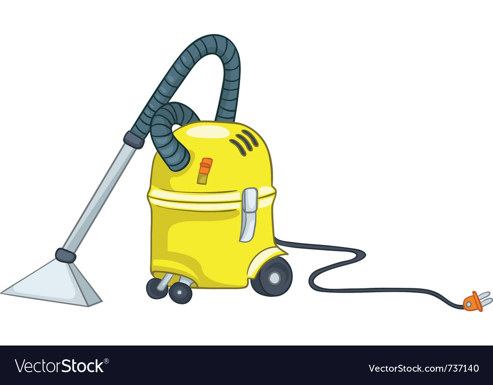 Cartoon appliences vacuum vector image