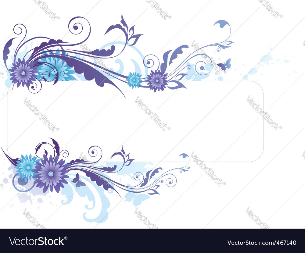 Floral Background With Blue Flowers Royalty Free Vector