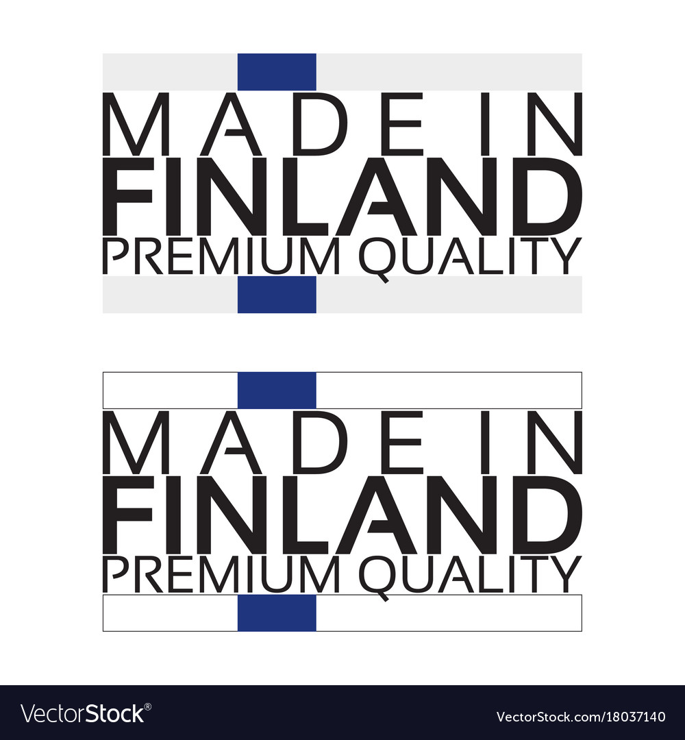 Made in finland icon premium quality sticker vector image