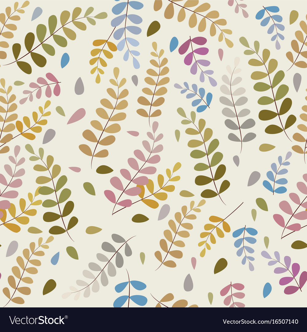 Pattern leaves seamless background of a branch vector image