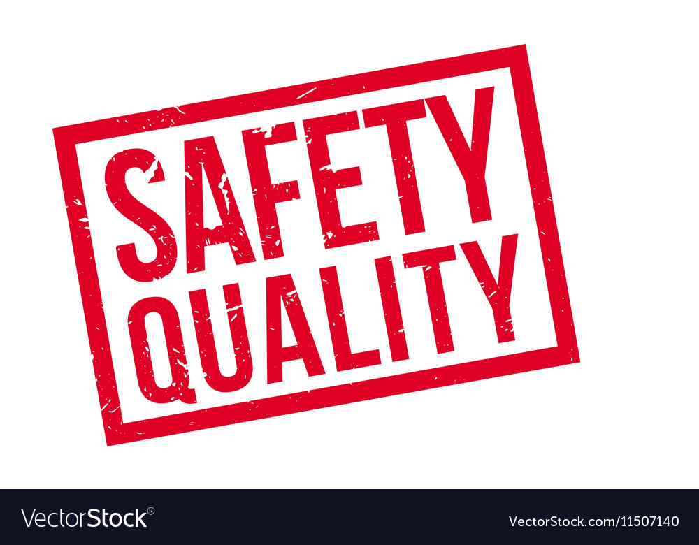 Safety Quality rubber stamp vector image on VectorStock