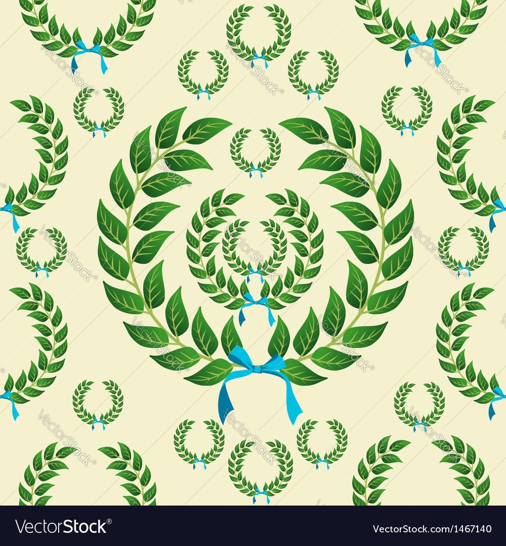 Seamless laurel wreath pattern