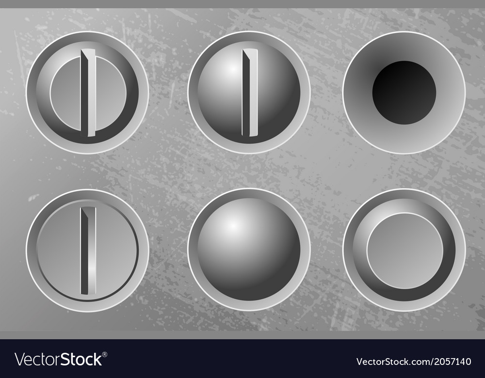 Six metal screws