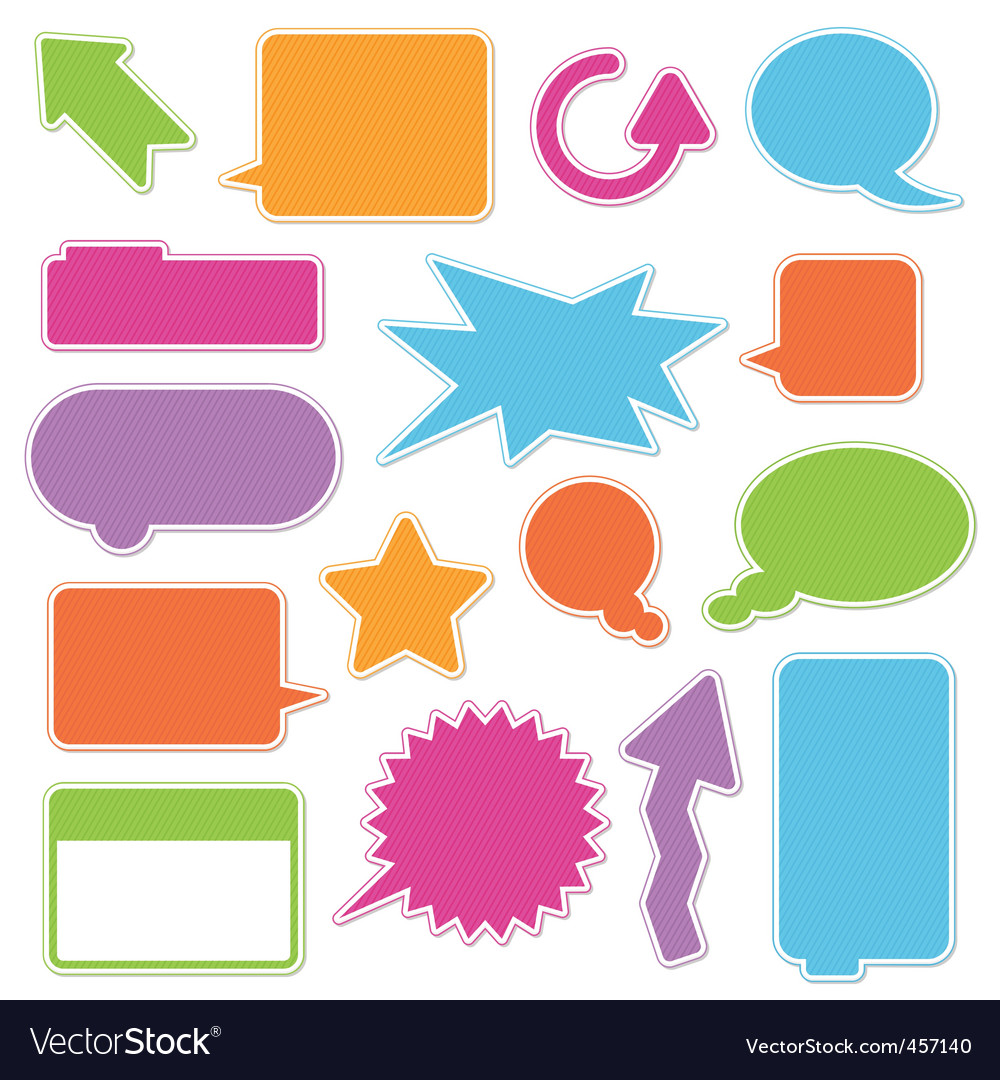 Text boxes vector image