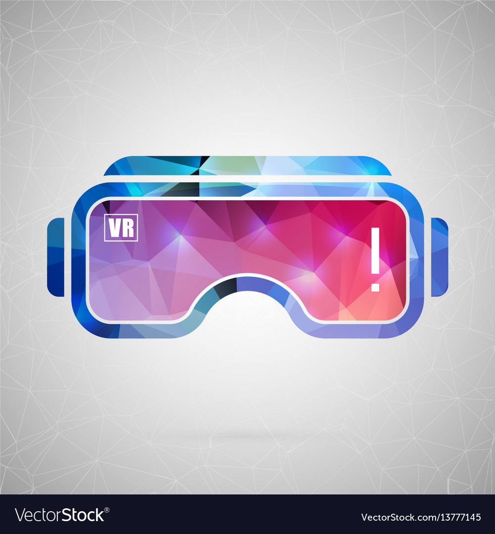 Abstract creative concept icon of vr for