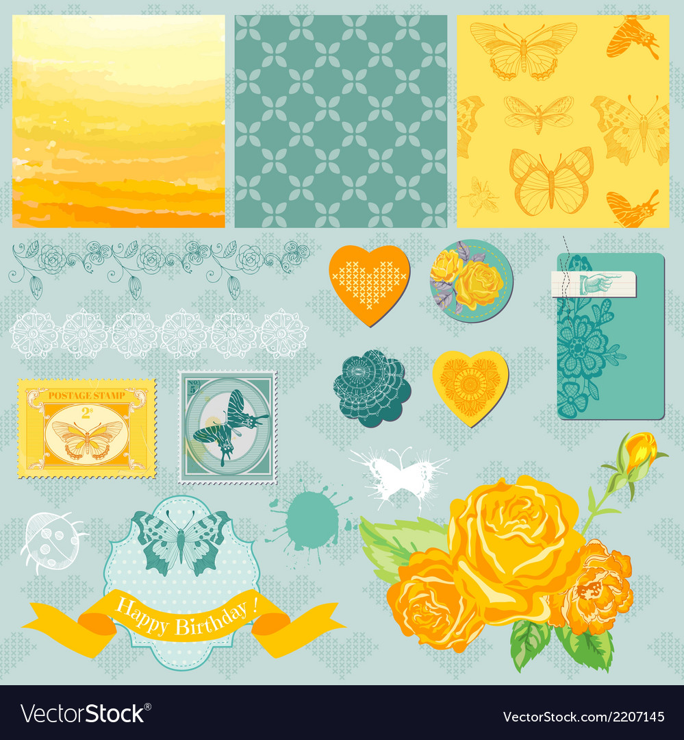 Design Elements - Ombre Butterflies Theme