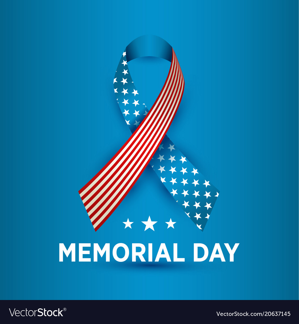Happy memorial day card national american