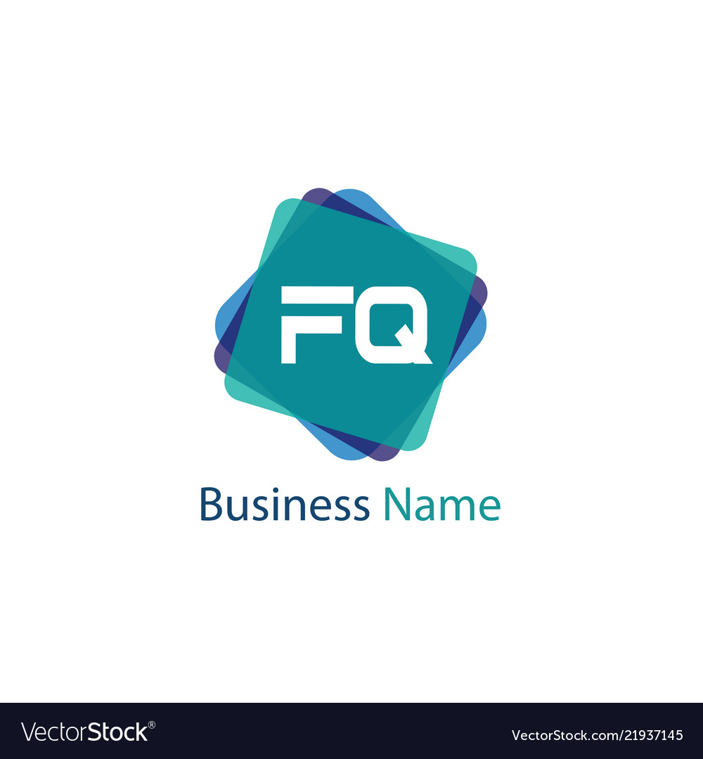 Initial Letter Fq Logo Template Design Royalty Free Vector
