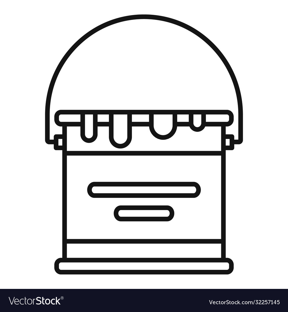 Reconstruction paint bucket icon outline style