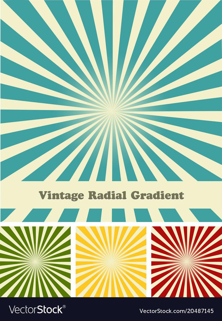 Retro rays comic background raster gradient