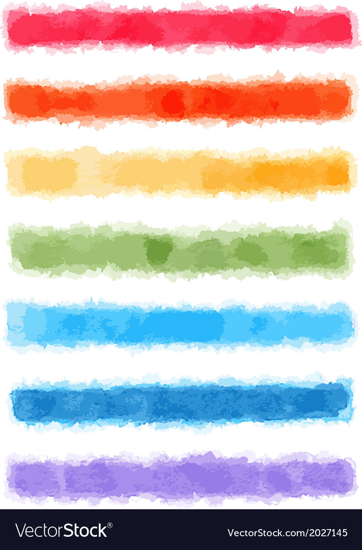 Watercolor rainbow banners