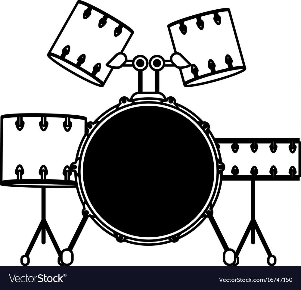 Drum set musical instrument icon image