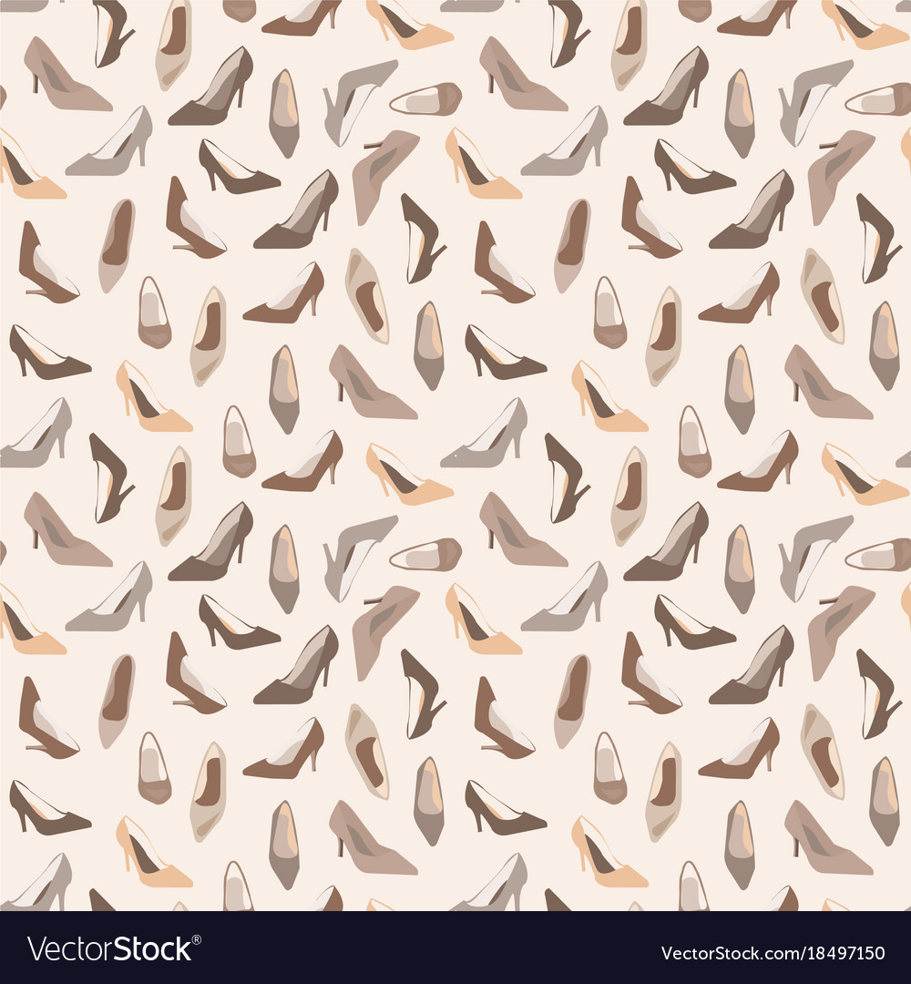 Seamless pattern with ladies shoes