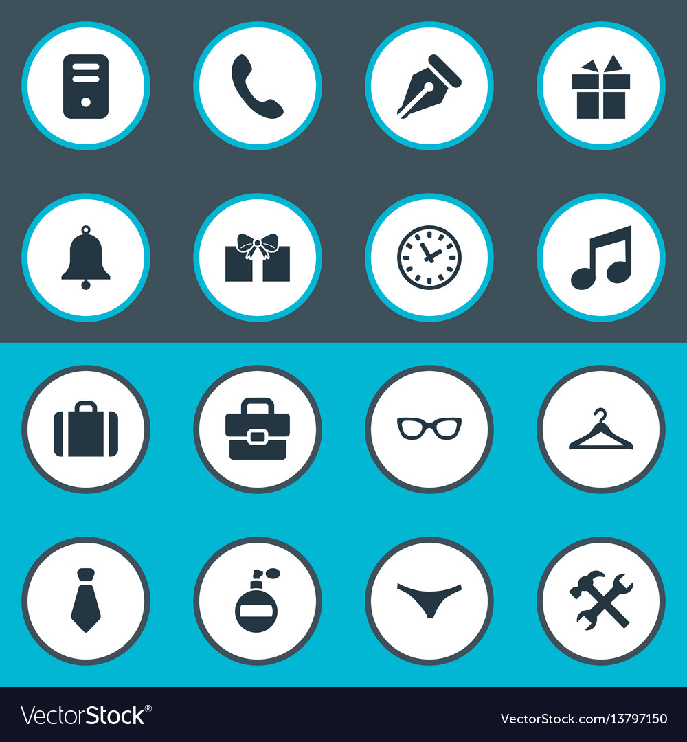Set of simple instrument icons
