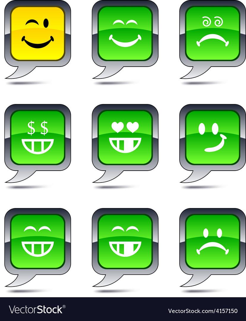 Smiley balloon icons