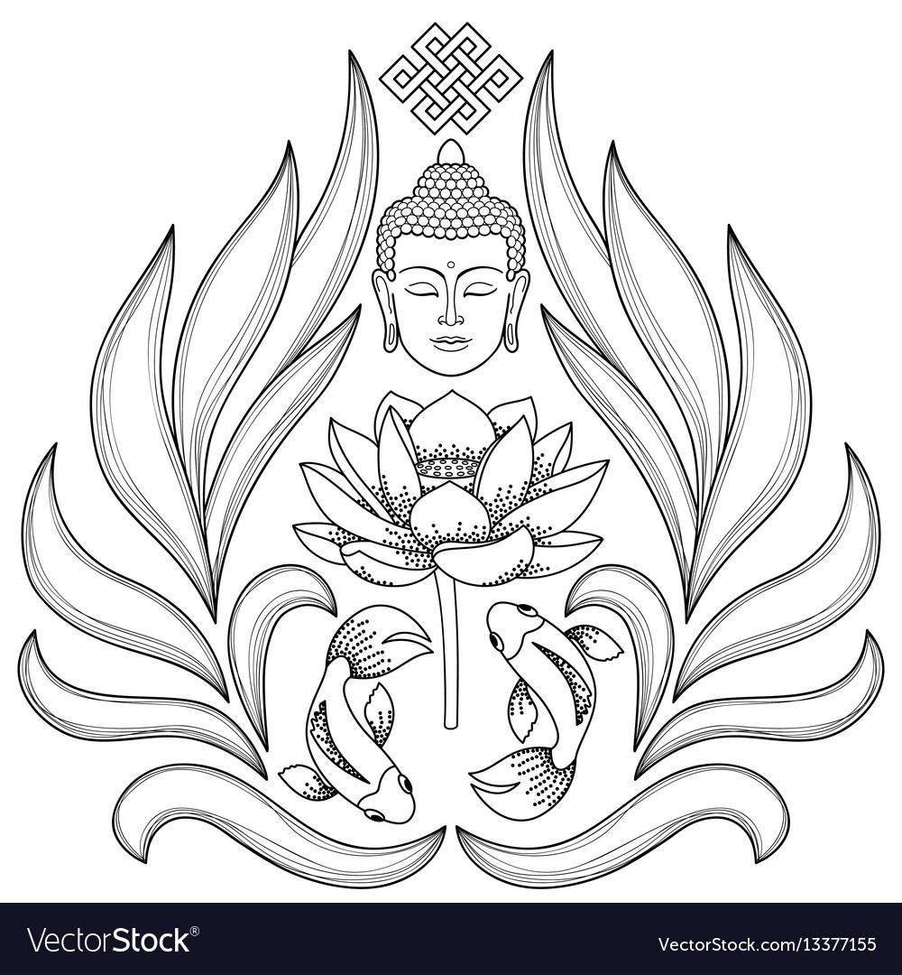 Buddha abstract pattern