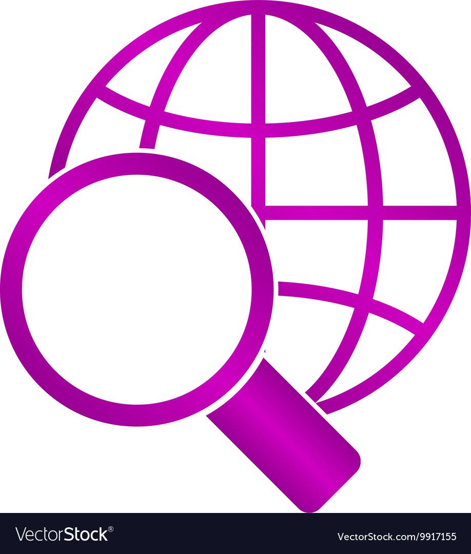 Global search icon World globe symbol