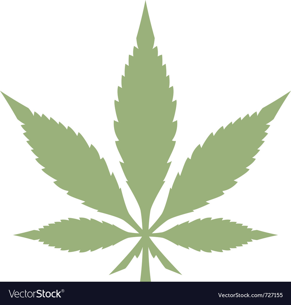 marijuana leaf royalty free vector image vectorstock rh vectorstock com marijuana leaf silhouette vector marijuana leaf silhouette vector
