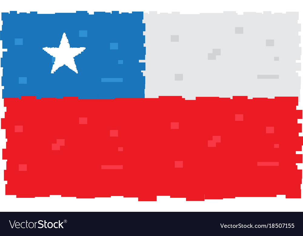 pixelated flag of chile royalty free vector image