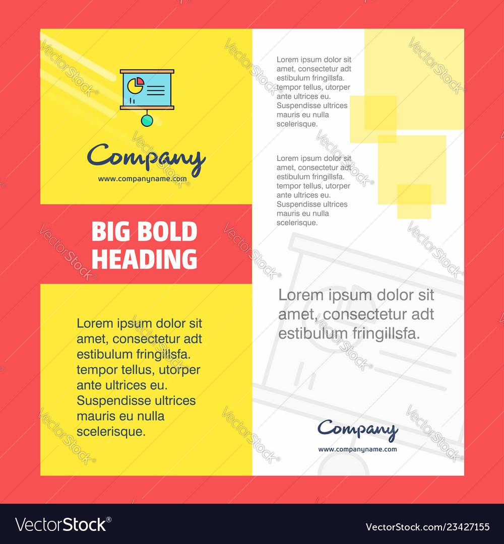 Presentation Chart Company Brochure Title Page