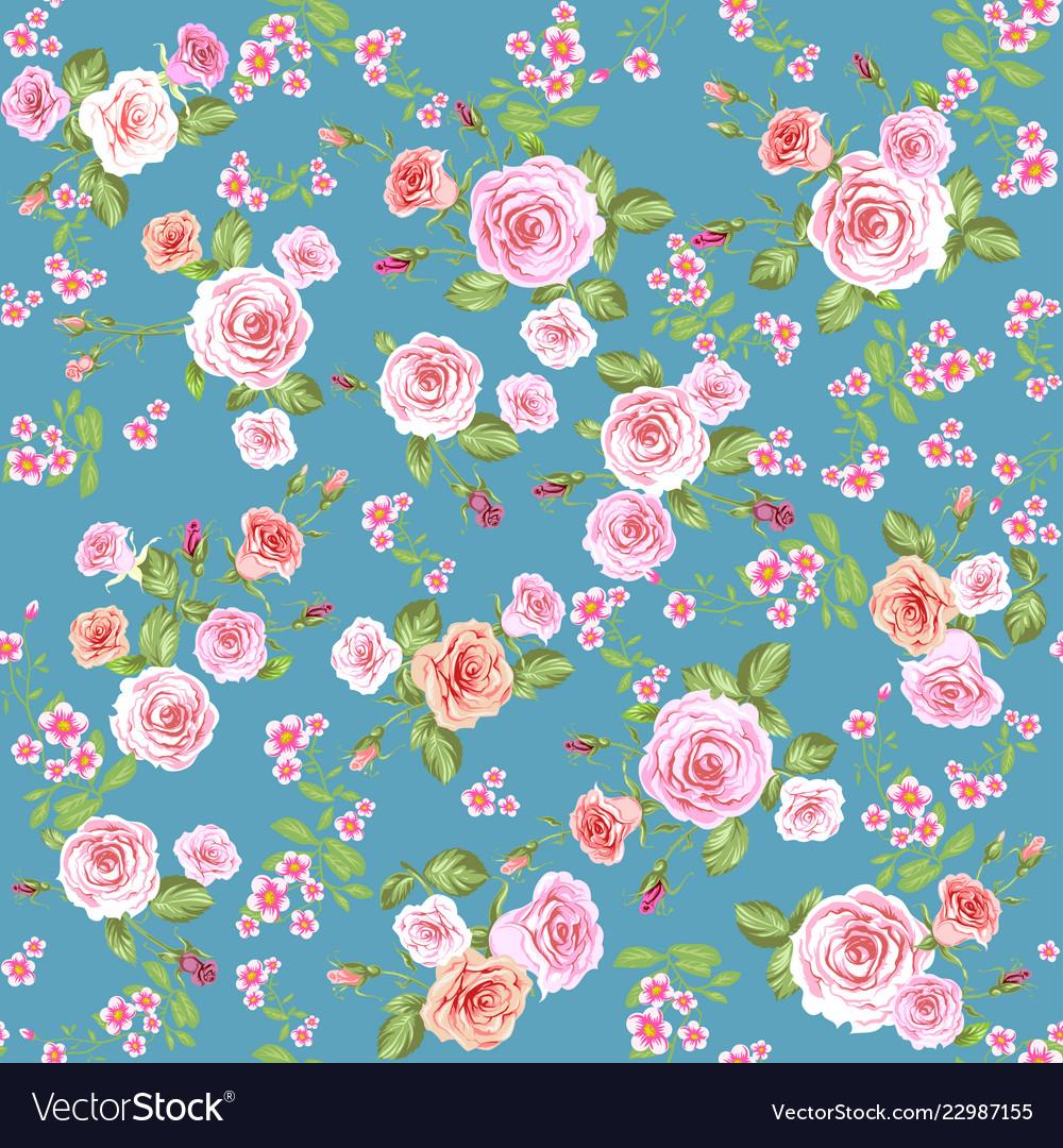 Roses Seamless Pattern Wallpaper