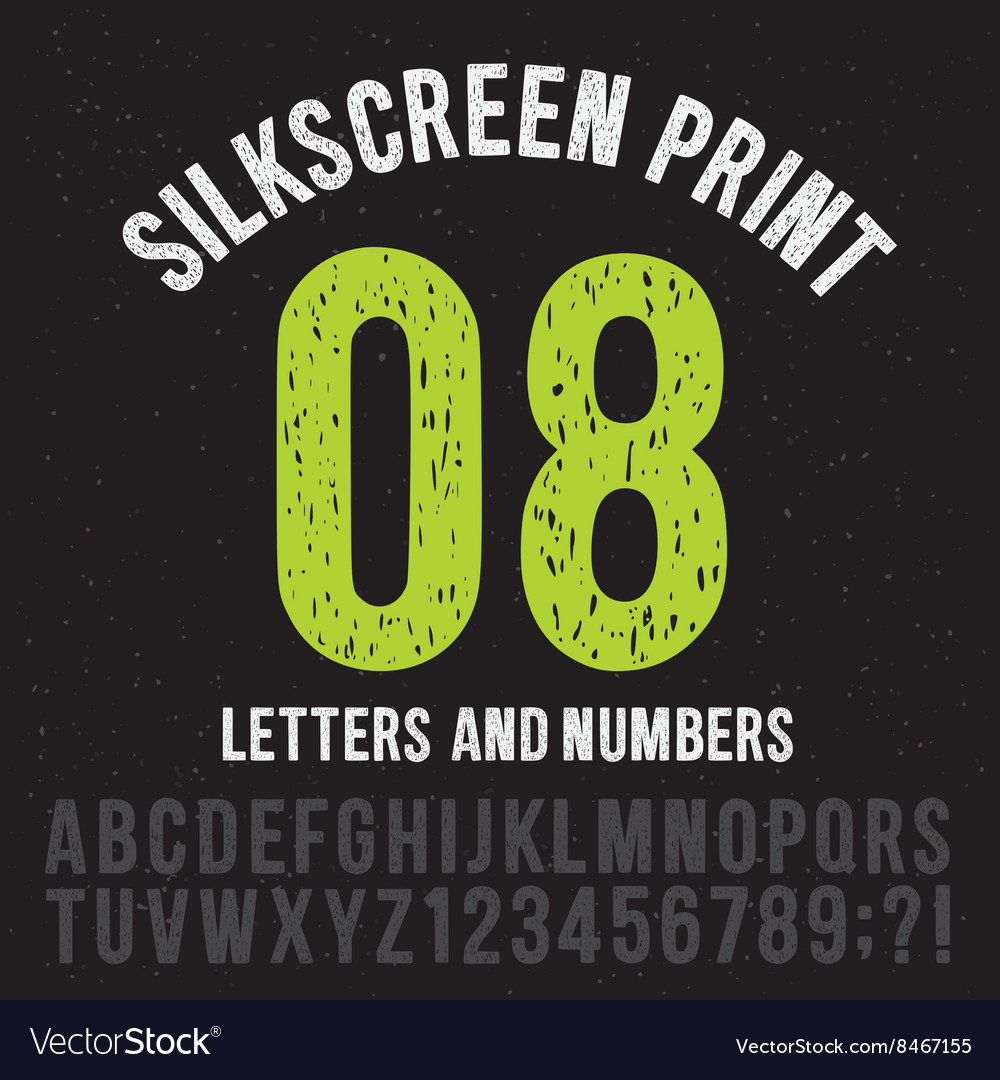 photograph relating to Printable Letters and Numbers known as Silkscreen print design letters and figures