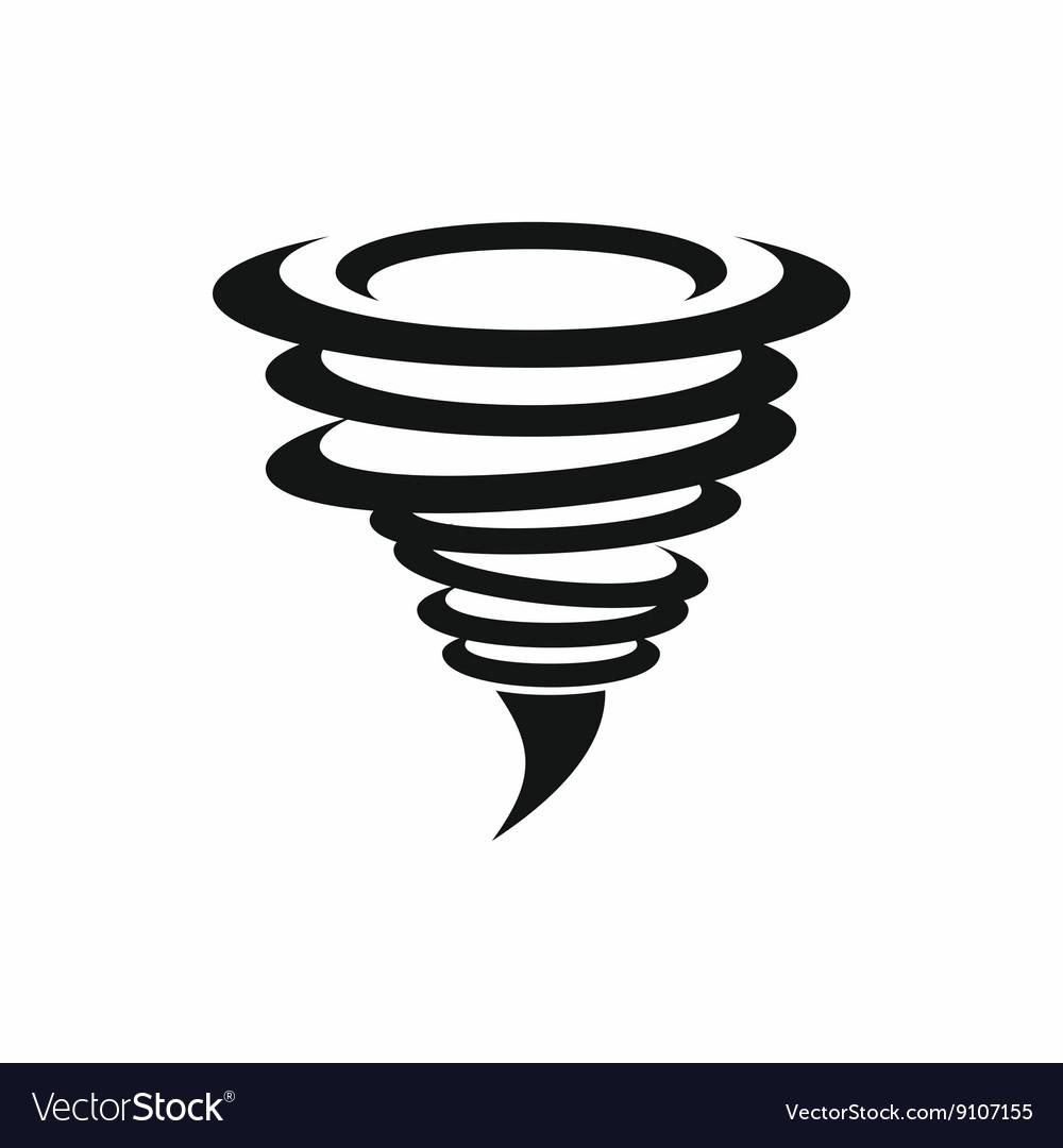 Tornado icon simple style vector image