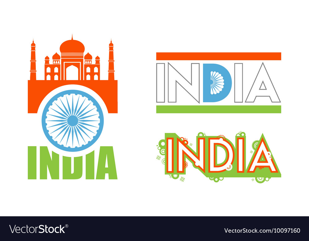 Abstract flag icons for India