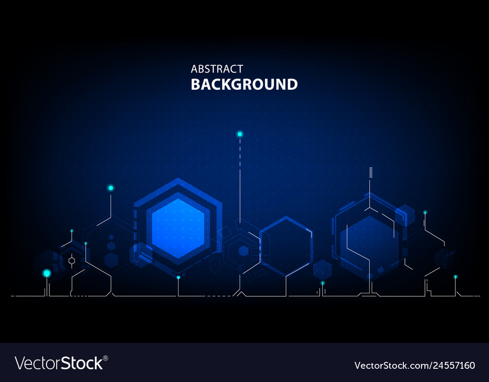Abstract technology polygon background