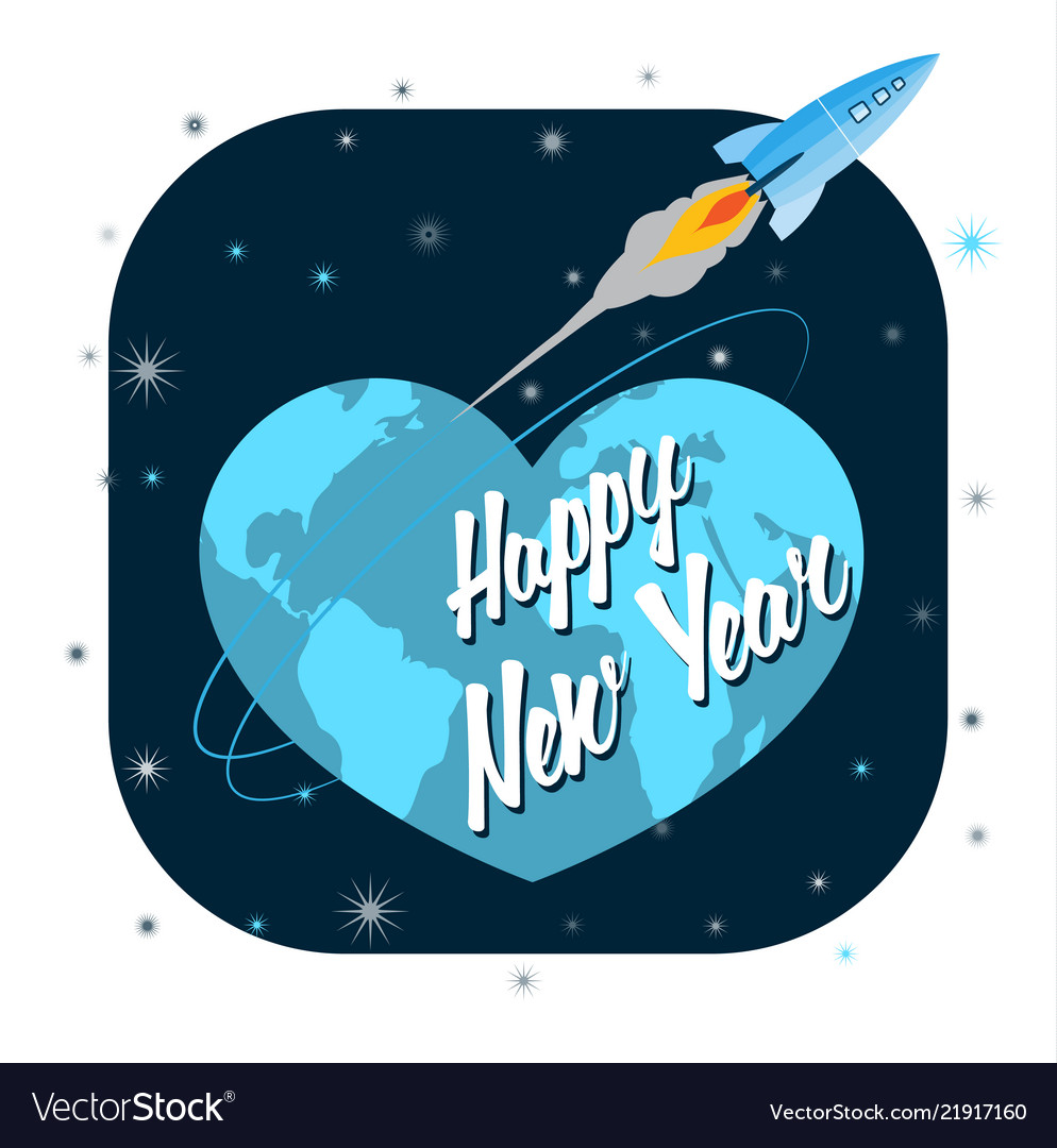 Best Wishes For New Year Greeting Card Royalty Free Vector