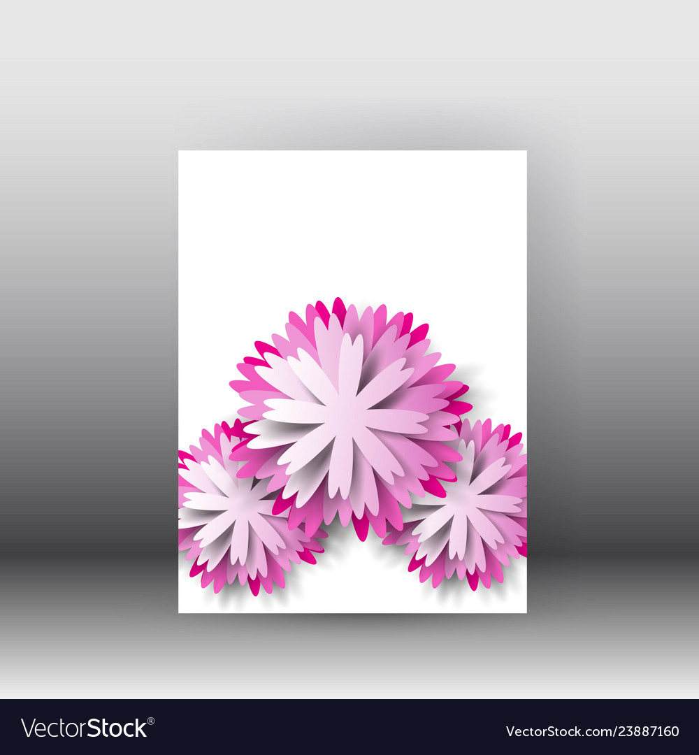 Brochure design background flyerfloral poster and