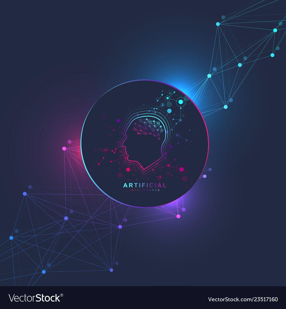 Futuristic artificial intelligence and machine