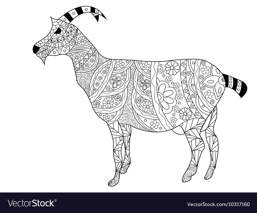Goat Coloring for adults