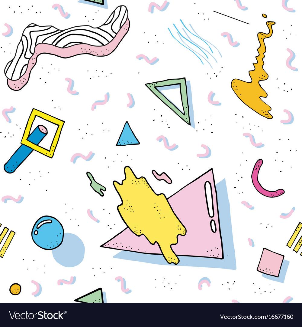Modern abstract design pattern memphis 80s-90s