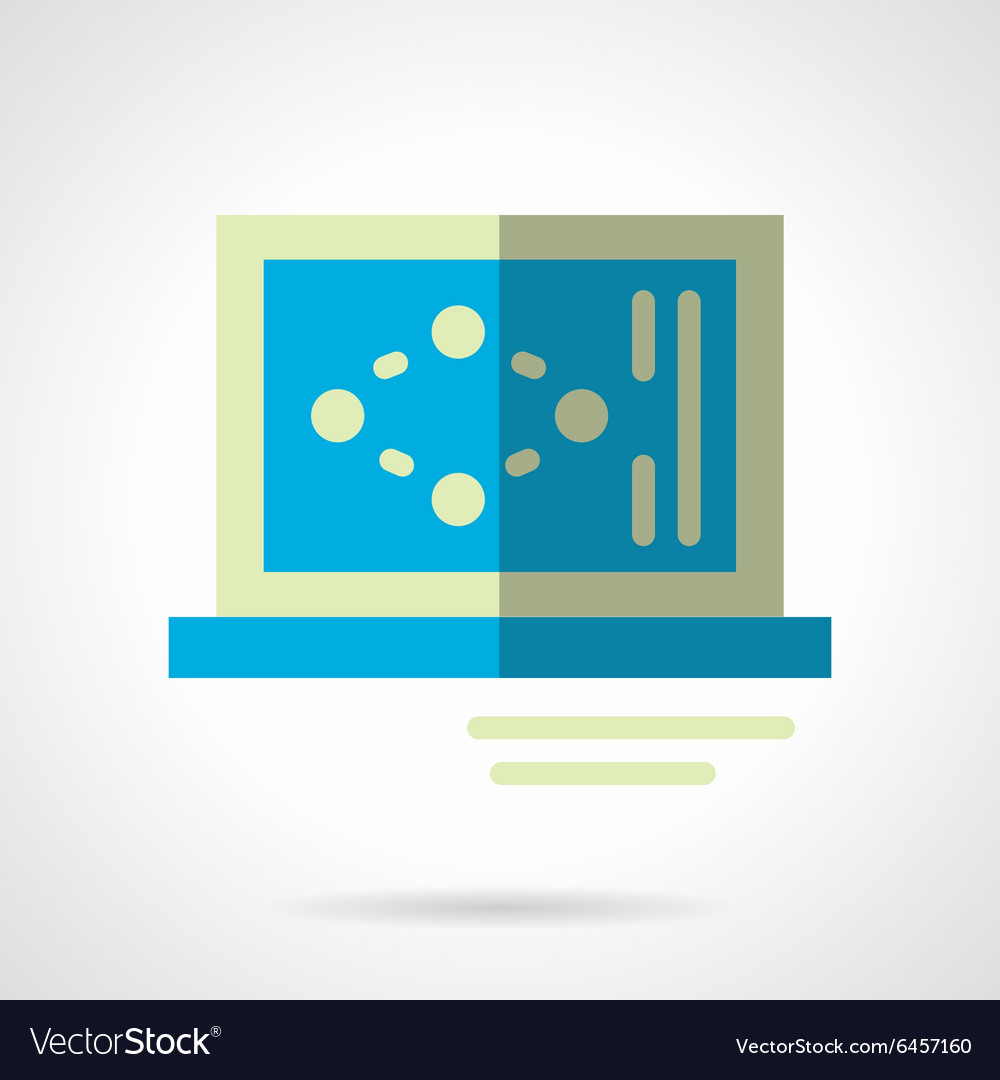 Science laptop flat color abstract icon