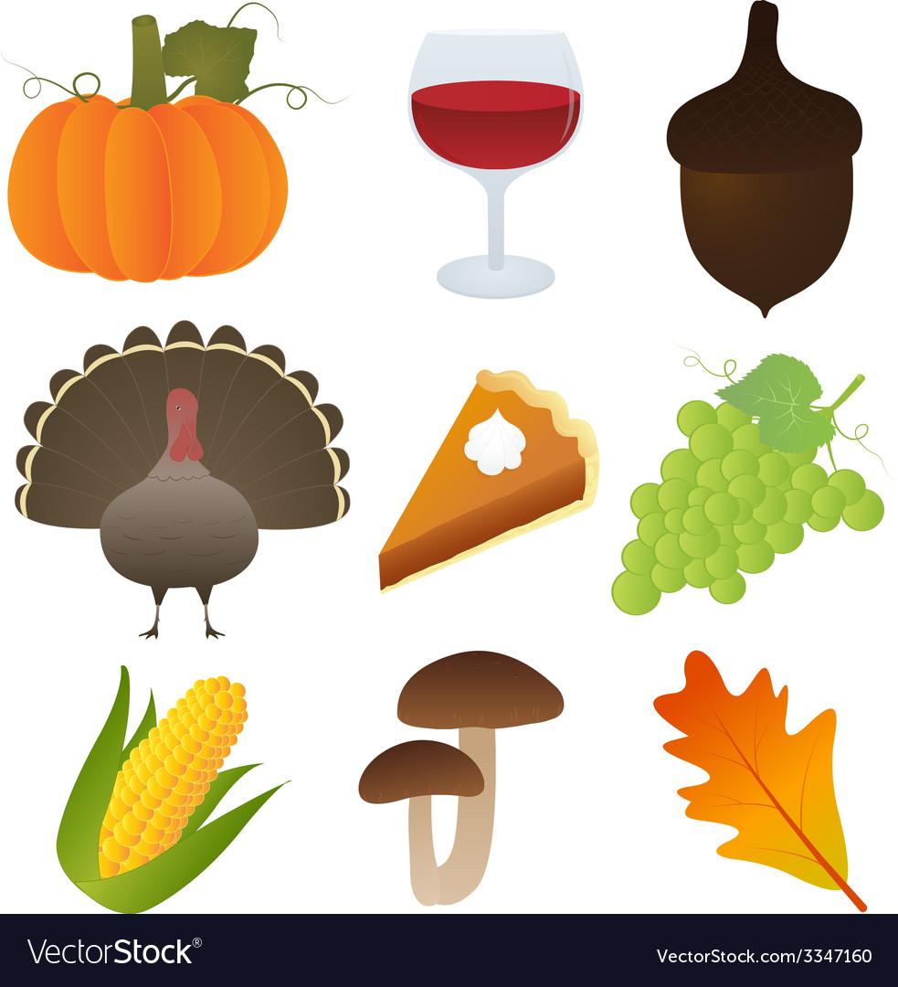 Set thanksgiving icons