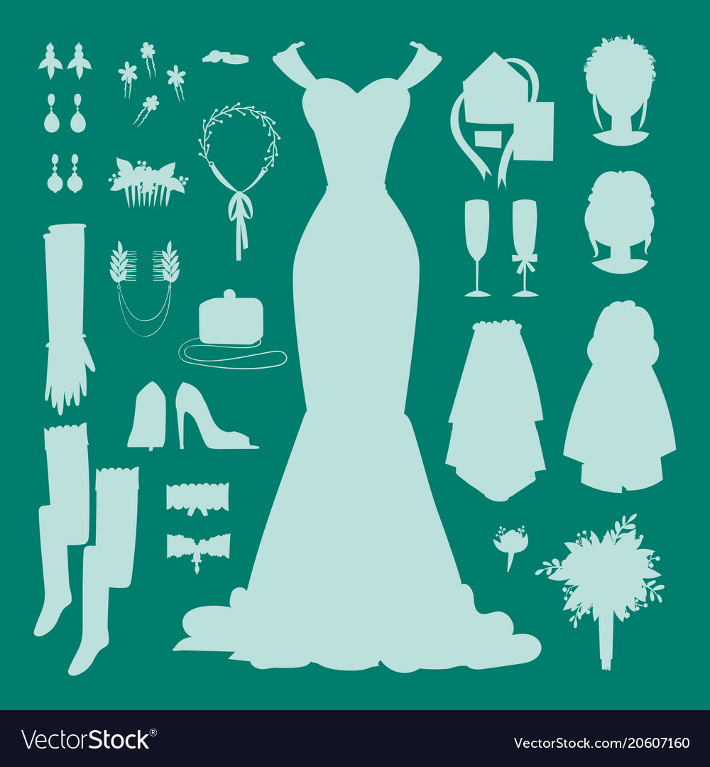 Wedding bride dress accessories fashion