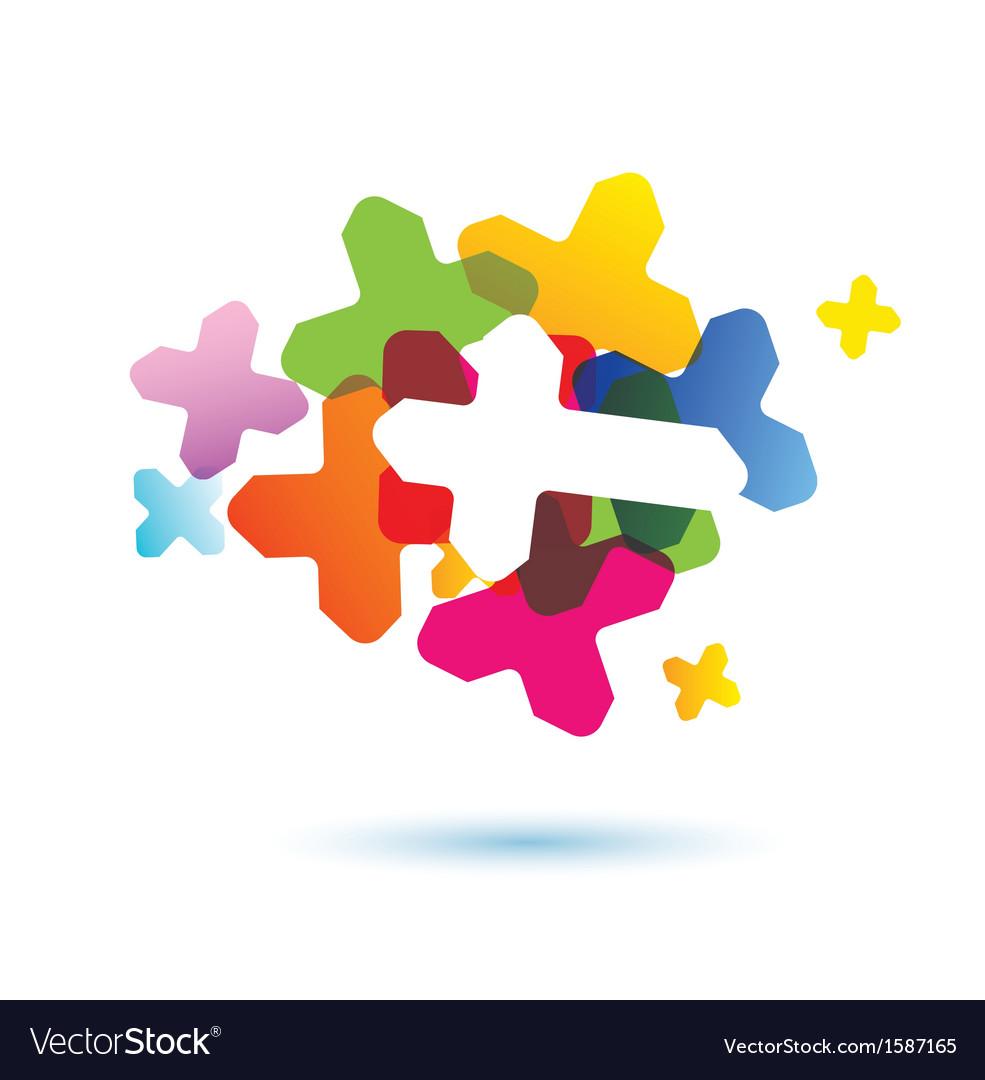 Abstract human brain icon vector image