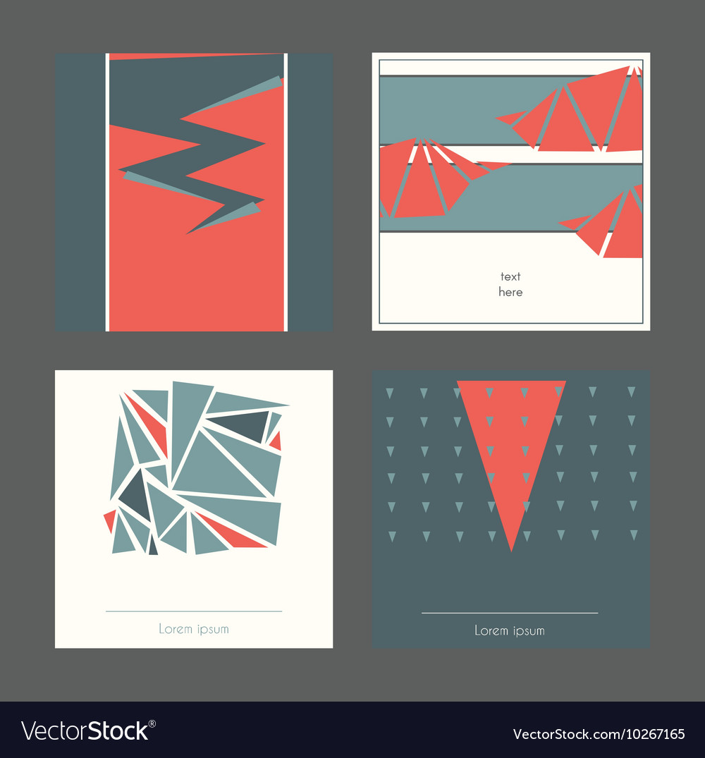 Beautiful collection of square cards based on
