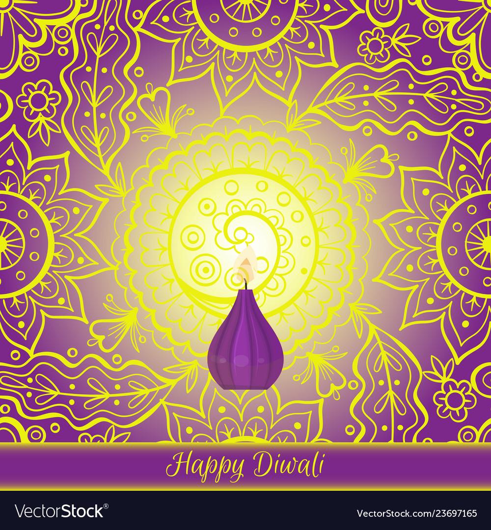 Beautiful greeting card for hindu community