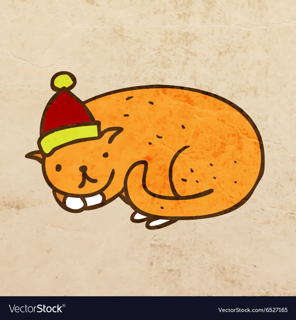 Christmas Cat Cartoon