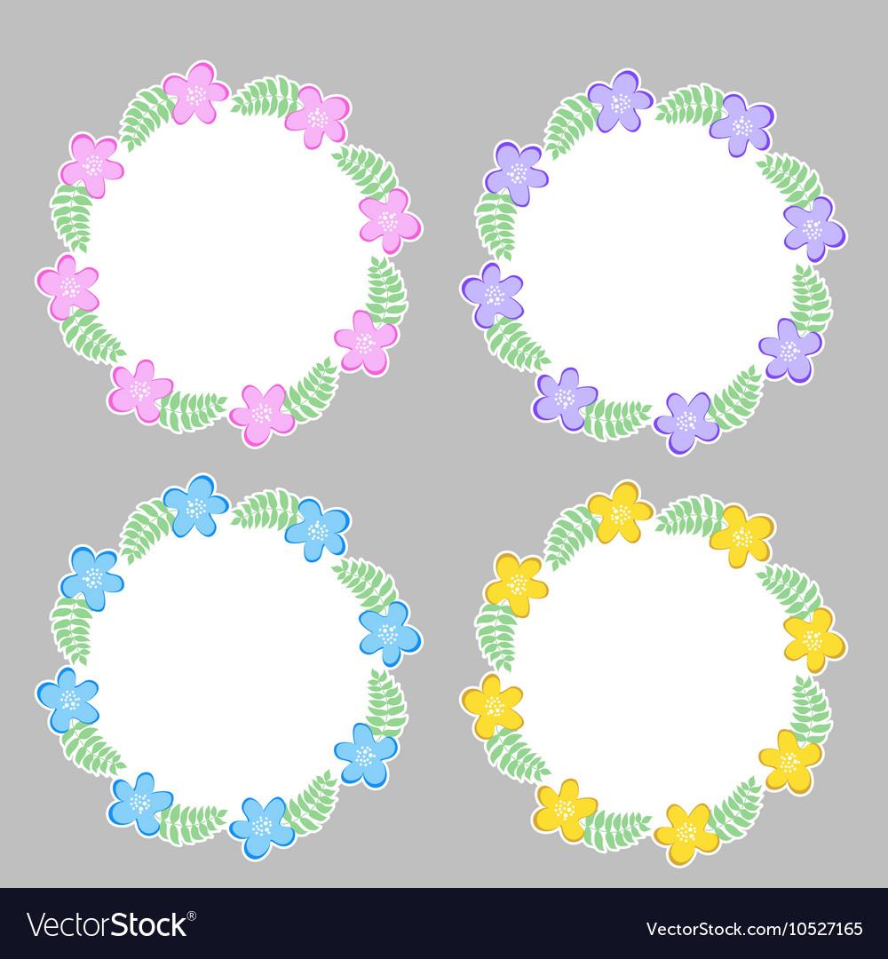 Floral frame for text summer frame