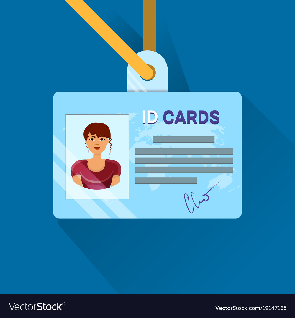 Id card user or worker identification badge