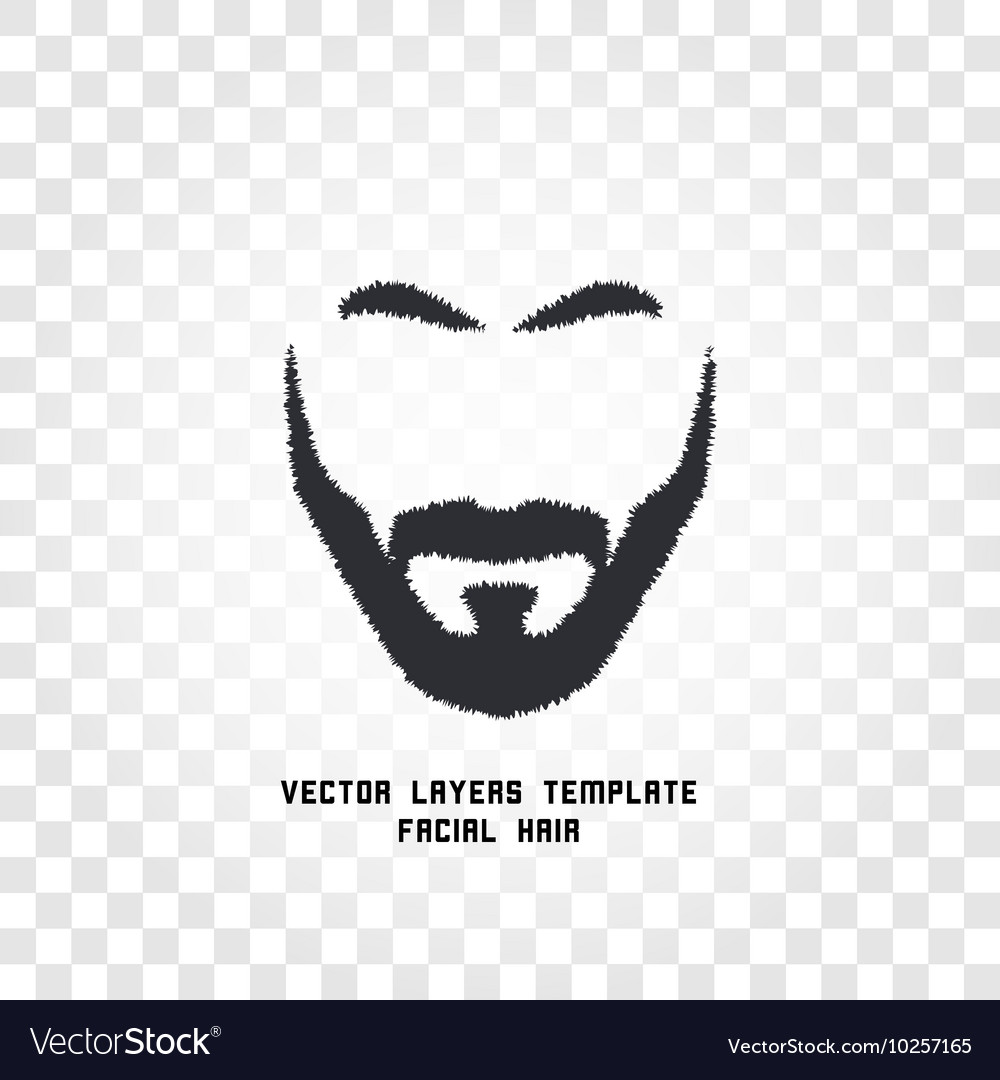 isolated face with mustache and beard logo vector image vectorstock