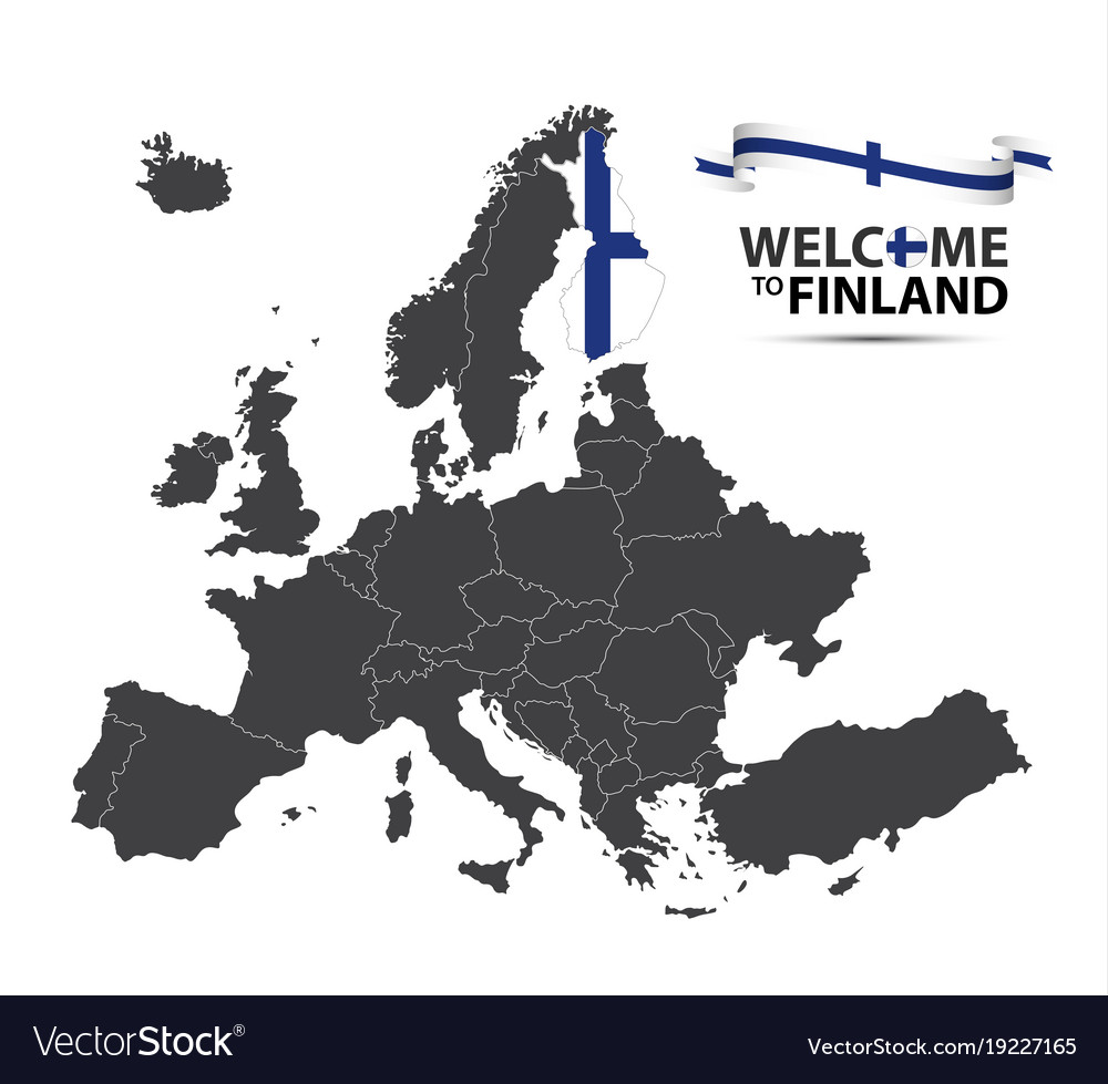 Map of europe with the state of finland royalty free vector map of europe with the state of finland vector image gumiabroncs Image collections
