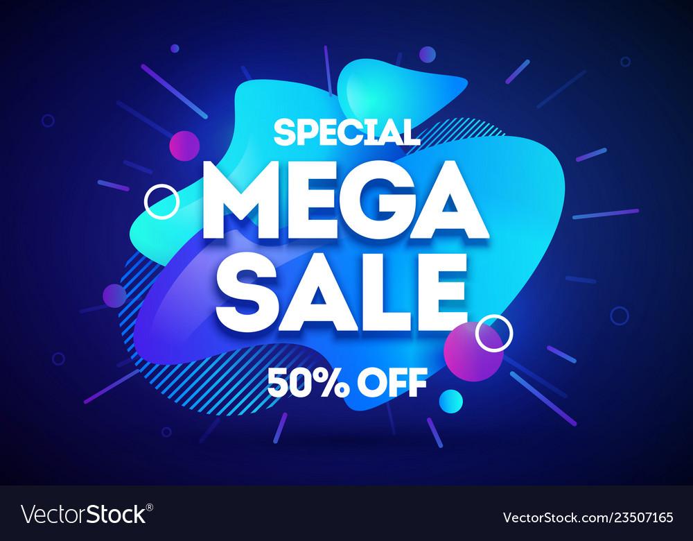 Mega shopping day sale banner background