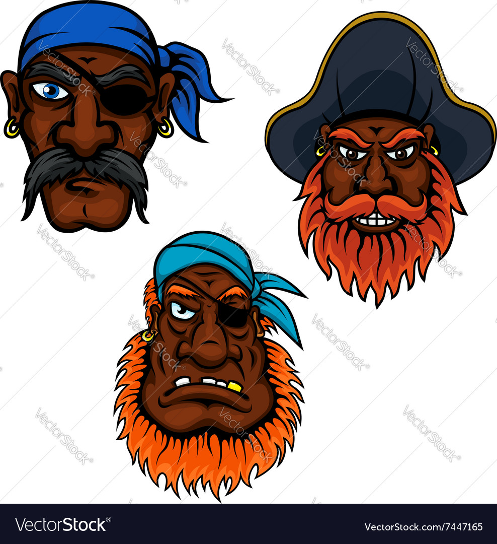 Sailor and captain pirates heads