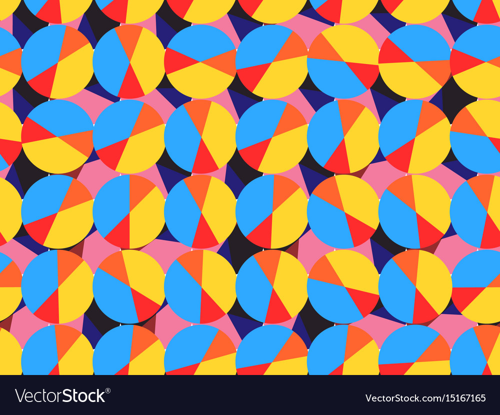 Seamless pattern with circles abstract background vector image