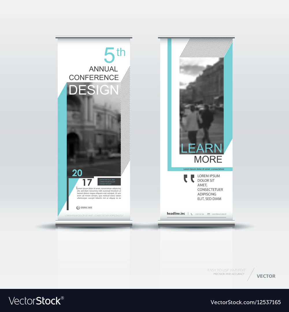 Vertical Banner Template Design Royalty Free Vector Image