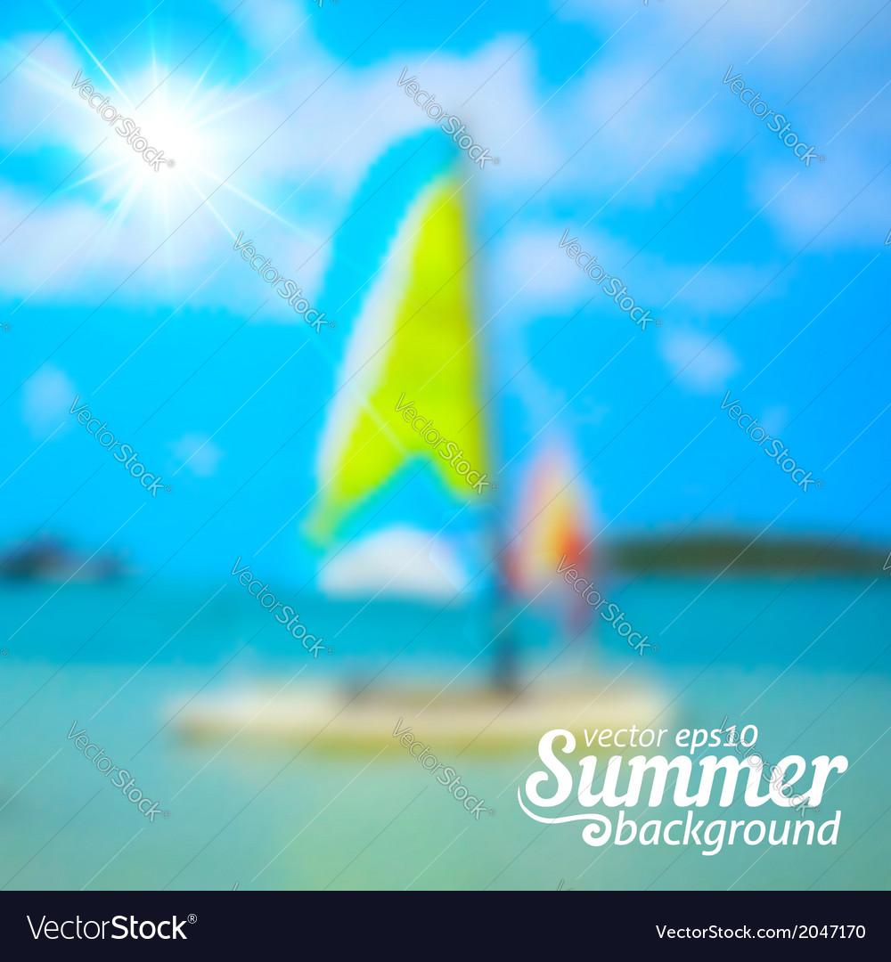 Bright blurred summer sea background